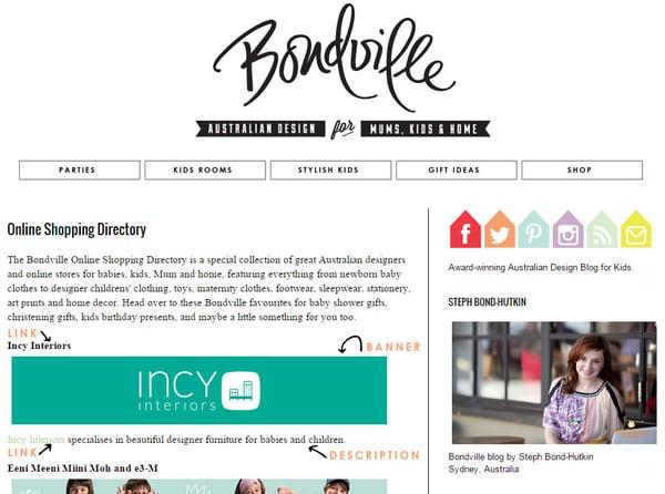 Image of Bondville online shopping directory