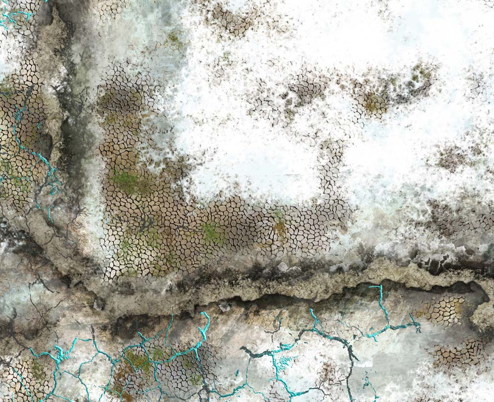 Image of Frozen Ruins -- 4'x6' plus -- #200