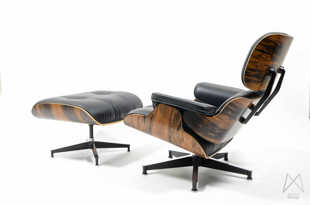 Image of Eames Lounge Chair Ottoman Santos Palissander Herman Miller Europe NEW