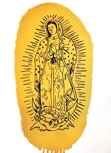 Image of Our Lady of Guadalupe Print (Gold)