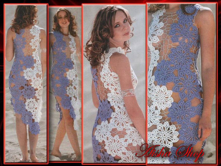 Aisha Shop Crochet Patterns Ebook Irish Lace Dresses Wedding