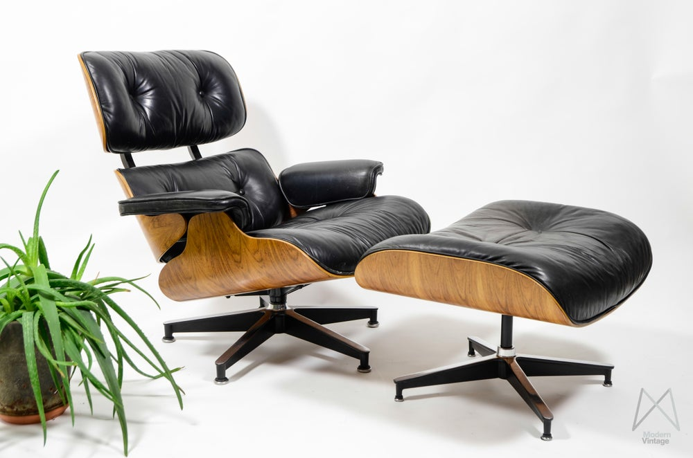 Image of Eames Herman Miller Rio Rosewood Palissander Lounge Chair not Vitra