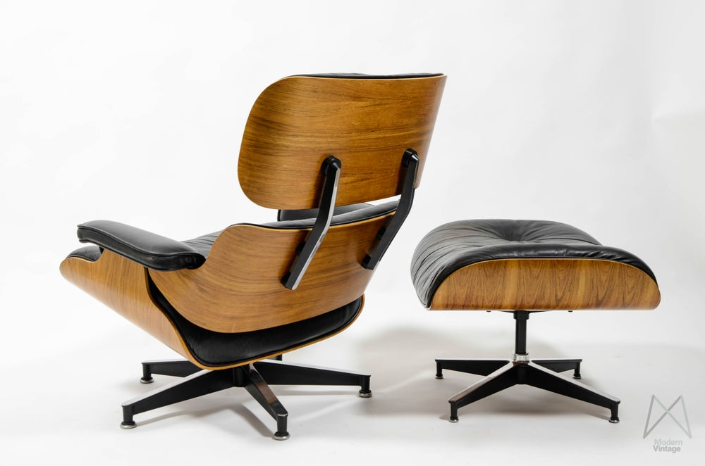 Eames Lounge Chair Tweedehands.Eames Herman Miller Rio Rosewood Palissander Lounge Chair Not Vitra