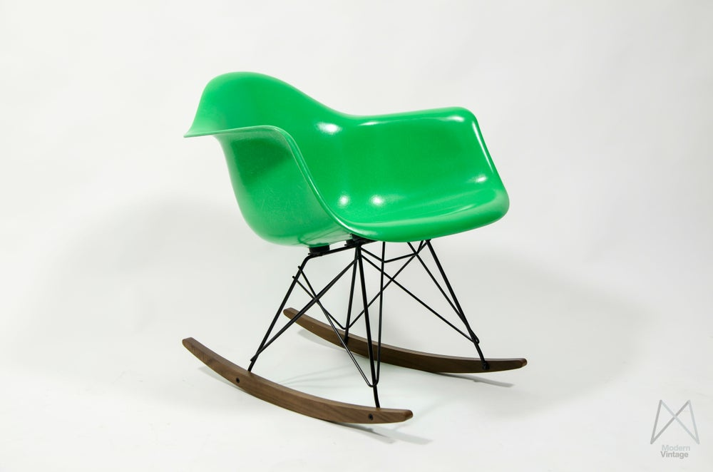 Image of Eames Herman Miller Rocking Chair RAR Kelly Green NEW fiberglass