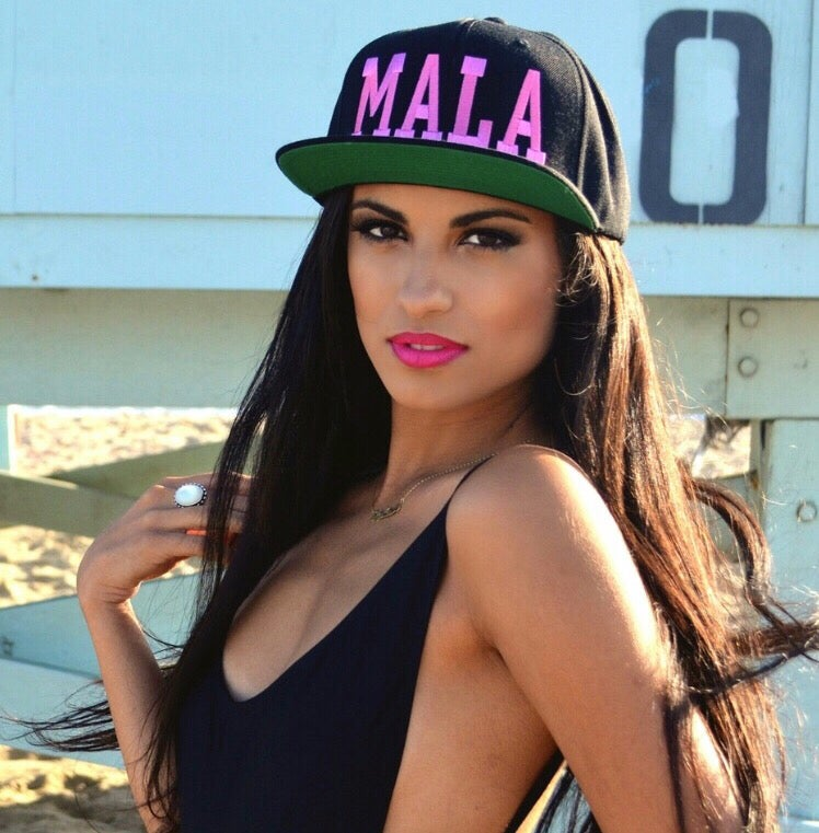 Image of Original Mala Snapback Pink Letters