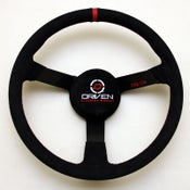 Image of Driven 15 inch Nascar Suede Steering Wheel
