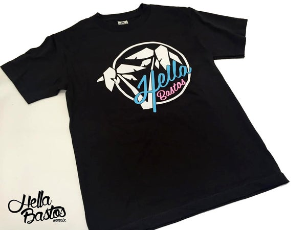 Image of HB TROPICAL GETAWAY T-SHIRT (Asphalt/ Black)