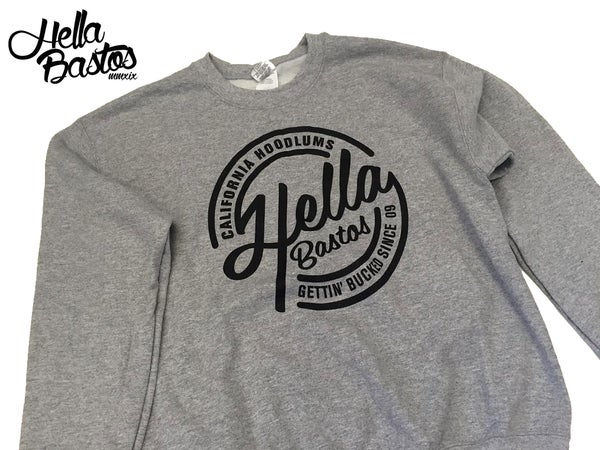 Image of HB Cali Hoodlum Crewneck (Grey)