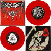 "Image of 7"" split with Sale Sangre aka Manias (NM) Red Vinyl"