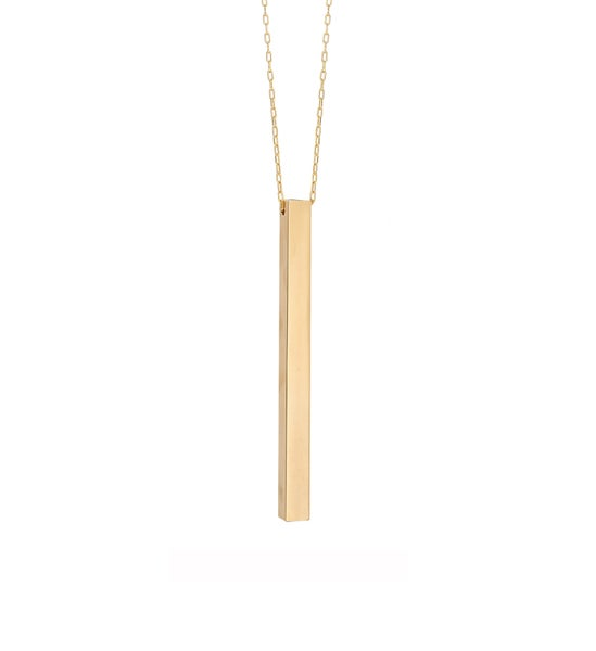 Image of Heavy Bar Gold Necklace