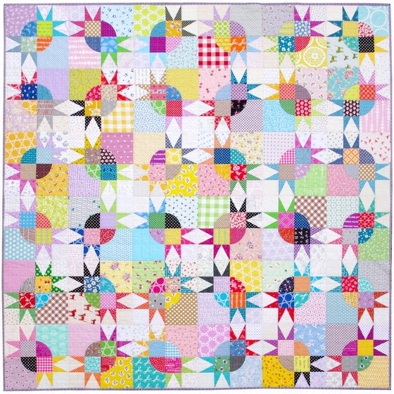 Image of Pickle Dish Variation Quilt - Templates and Foundation Paper Piecing Pattern (PDF FILE)