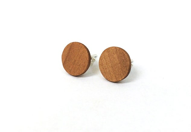 Image of Circle Post Earrings