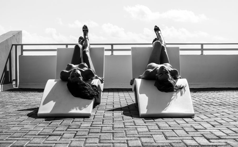 Image of Sunbathers in Miami Beach - 2014