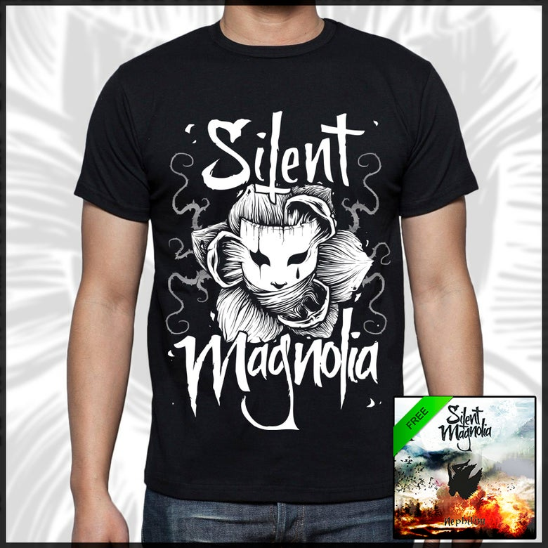 "Image of Silent Magnolia T-shirt + EP ""Nephilim"" (FREE)"