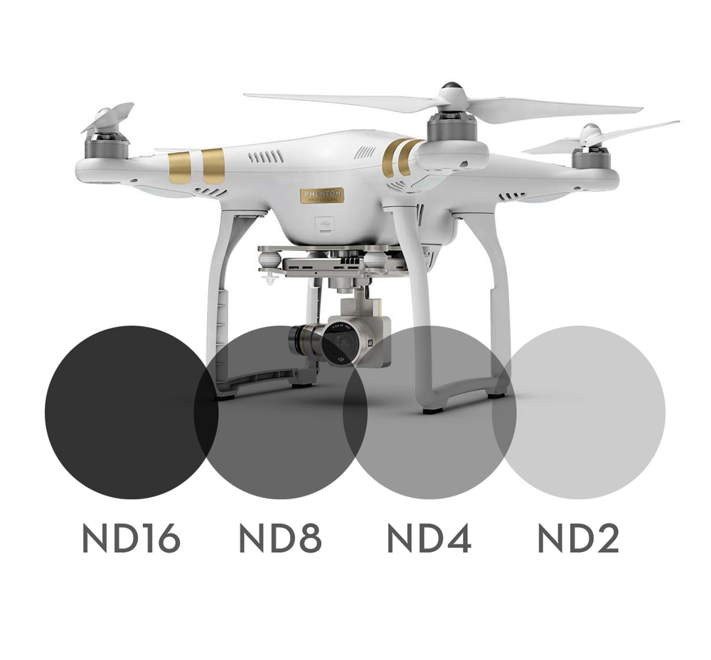 Image of 4-pack Neutral Density filters for DJI Phantom 3 Professional/Advanced
