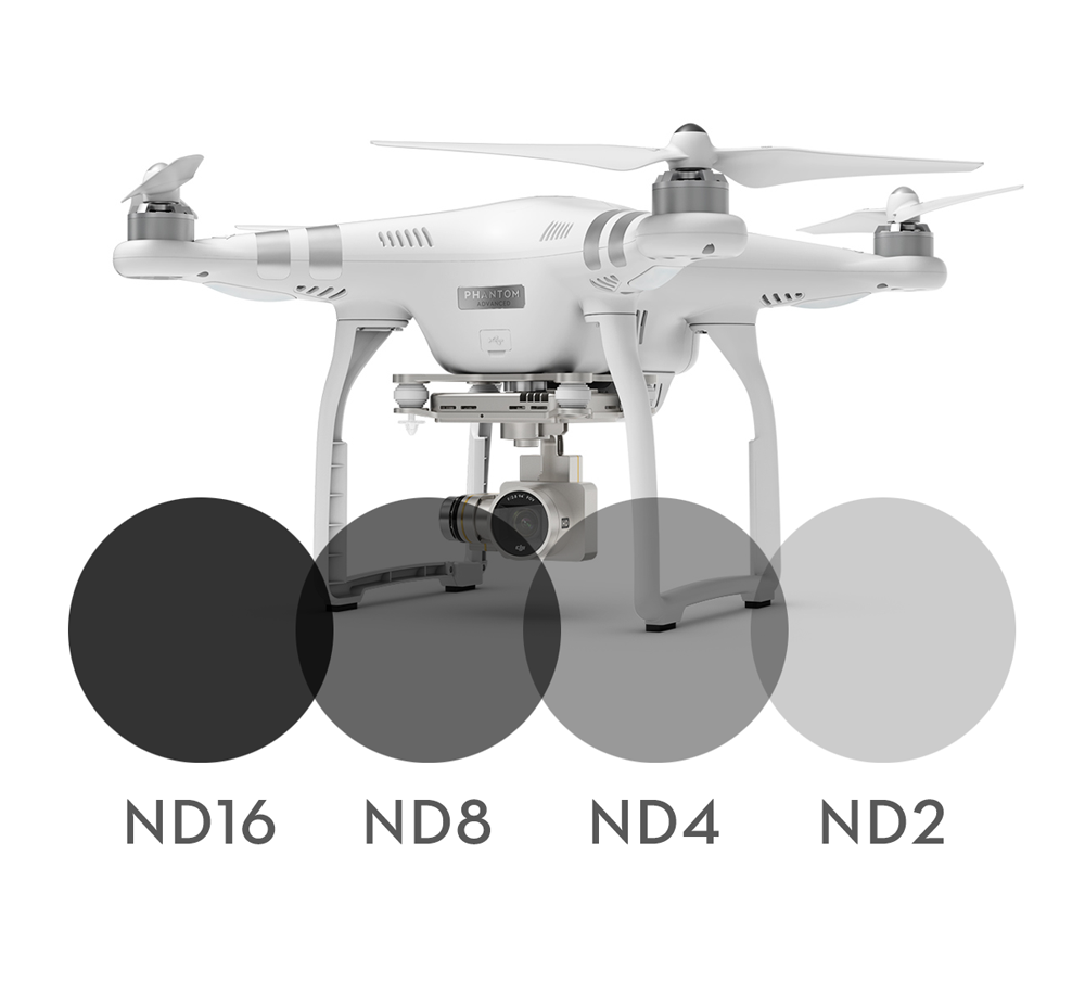 4-pack Neutral Density filters for DJI Phantom 3 Advanced/Professional