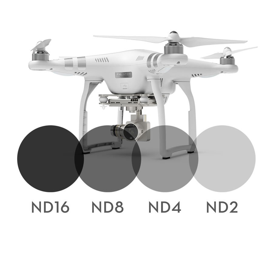 Image of 4-pack Neutral Density filters for DJI Phantom 3 Advanced/Professional