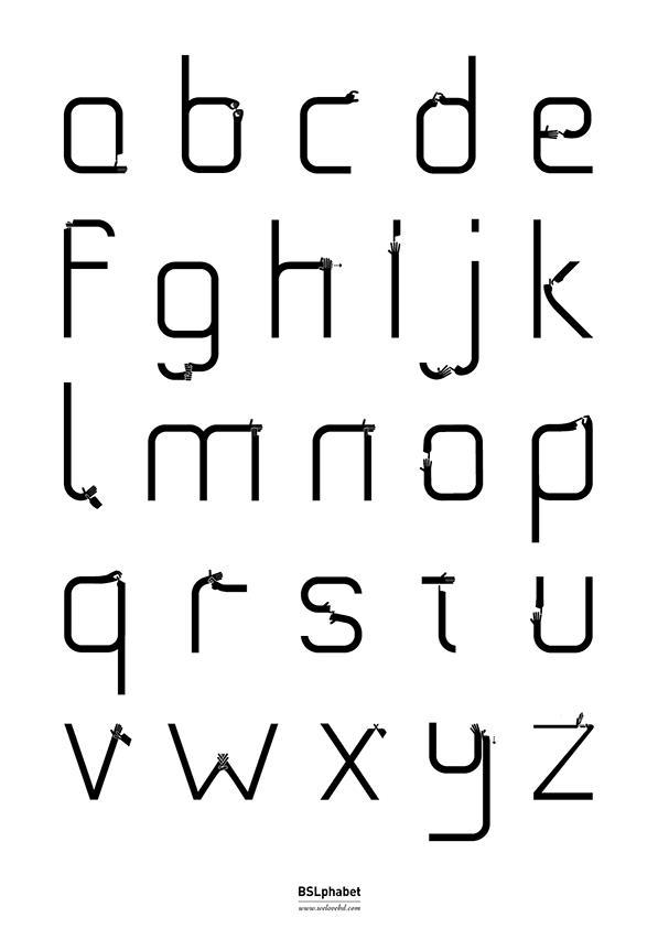 Image of BSLphabet Poster - White