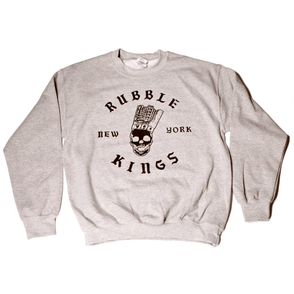 Image of RUBBLE KINGS  GREY SWEATSHIRT - ROCKSTEADY DESIGN