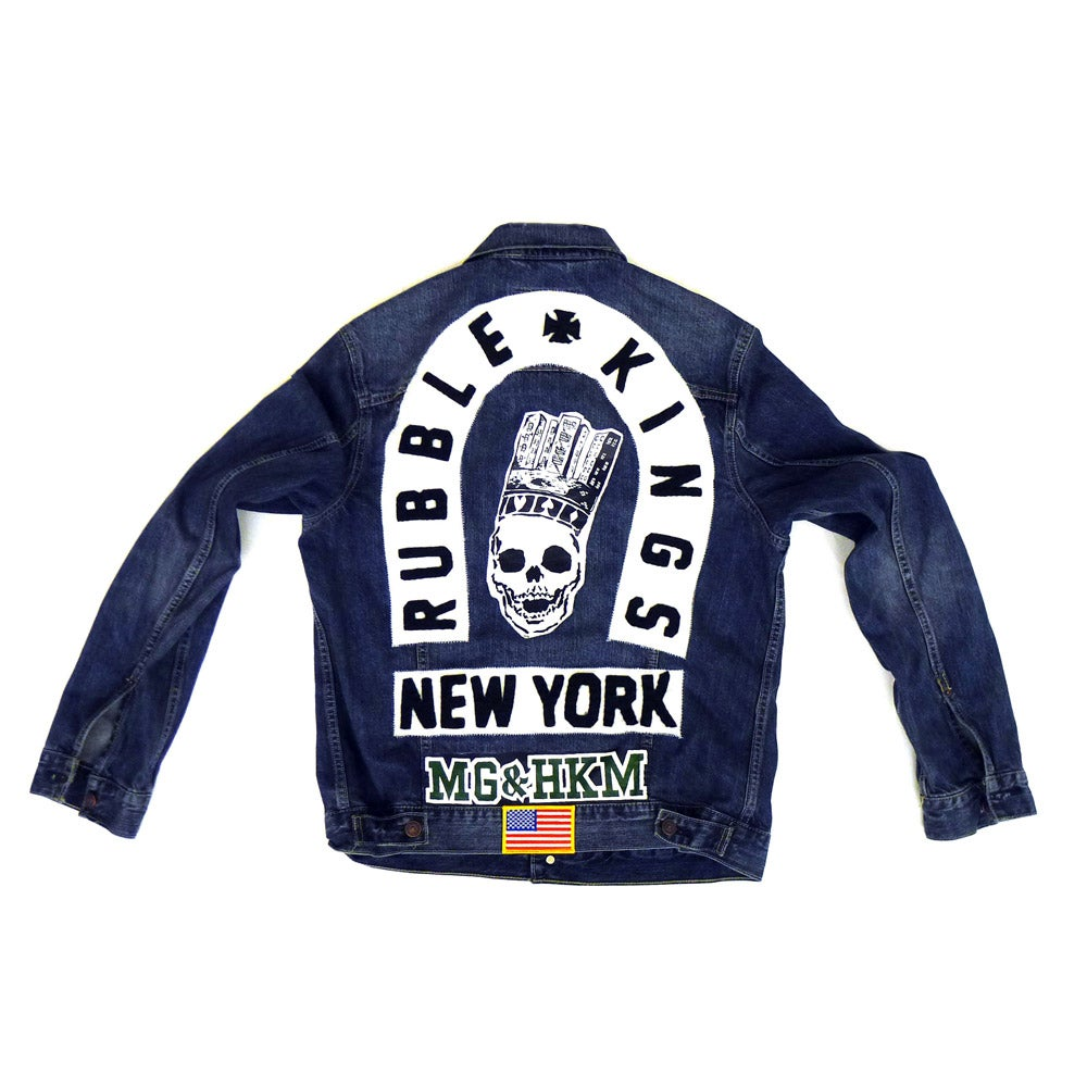 Image of RUBBLE KINGS x MGandHKM DENIM JACKET (LIMITED EDITION)