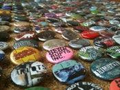 Image of 100 Custom buttons (for your band/label/zine/etc)