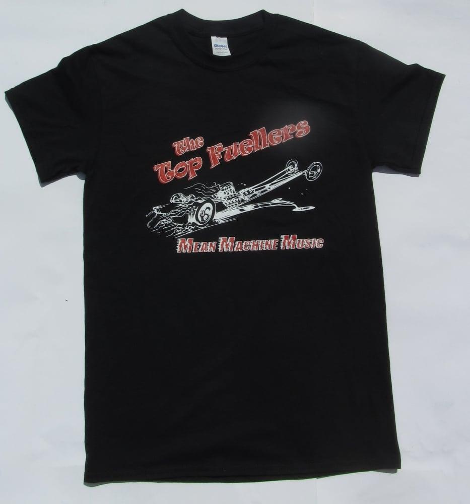 Image of Cartoon, FRONT PRINT, on Black T Shirt