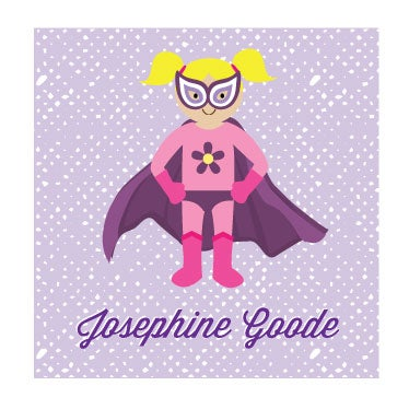Image of SUPER GIRL CALLING CARD + STICKERS