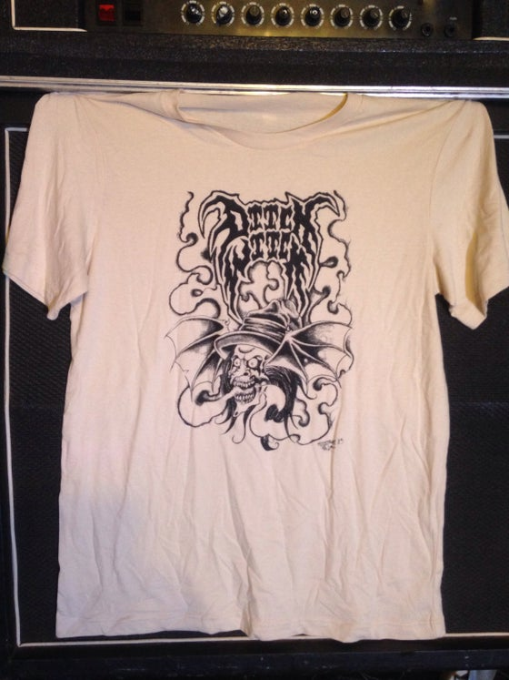 """Image of """"Ditch Witch"""" on Cream White T Shirt"""