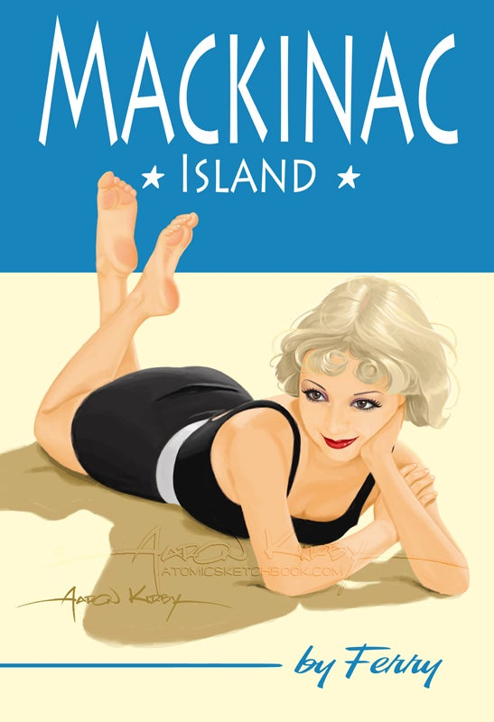 Image of Mackinac Island pin up