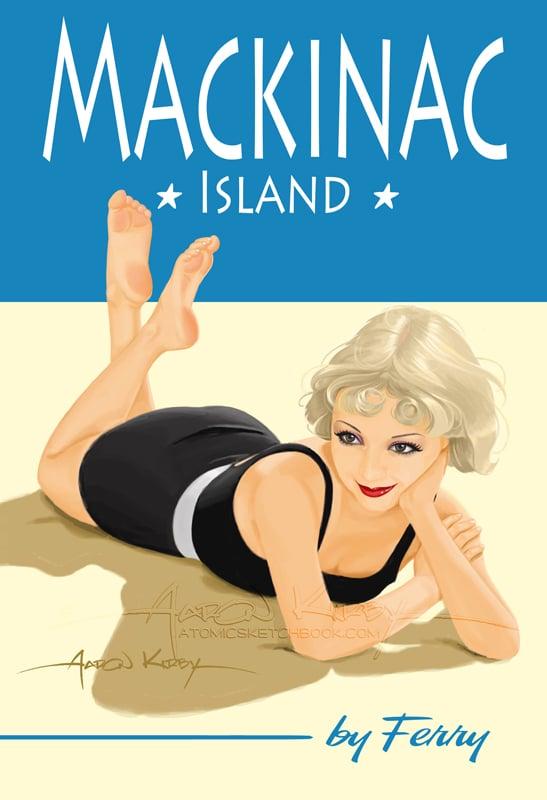 Image of Mackinac Island pin up