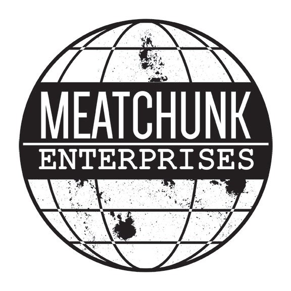 Image of MEATCHUNK GLOBE LOGO STICKER