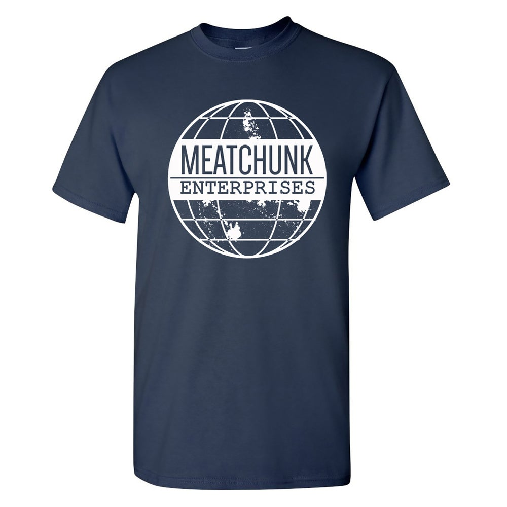 Image of MEATCHUNK GLOBE LOGO T-SHART