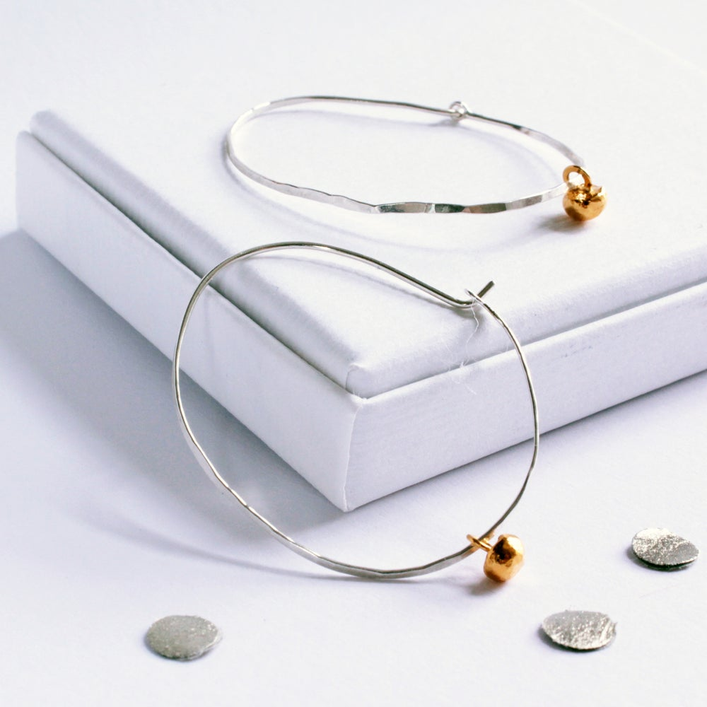 Image of Pebble hoop earrings