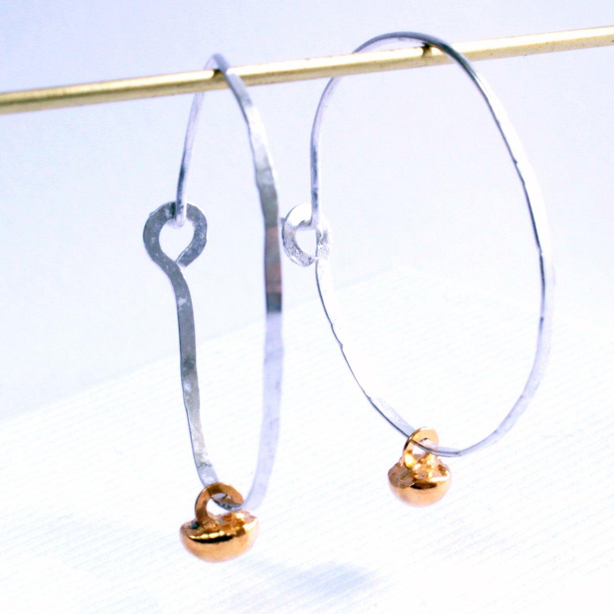 Image of Pebble hoop earrings