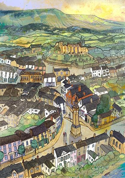 Image of Hay-On-Wye Greetings Card