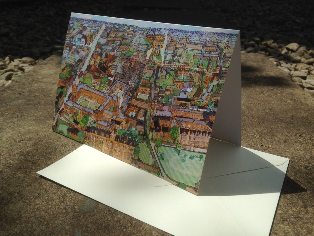 Image of Oxford From Christchurch Greetings Card