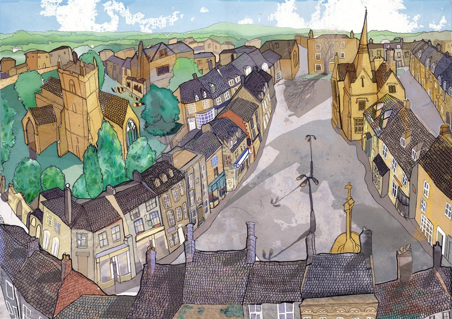 Image of Stow-on-the-Wold Greetings Card