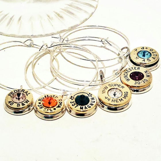 Image of Bullet Wine Glass Charm Set of 6