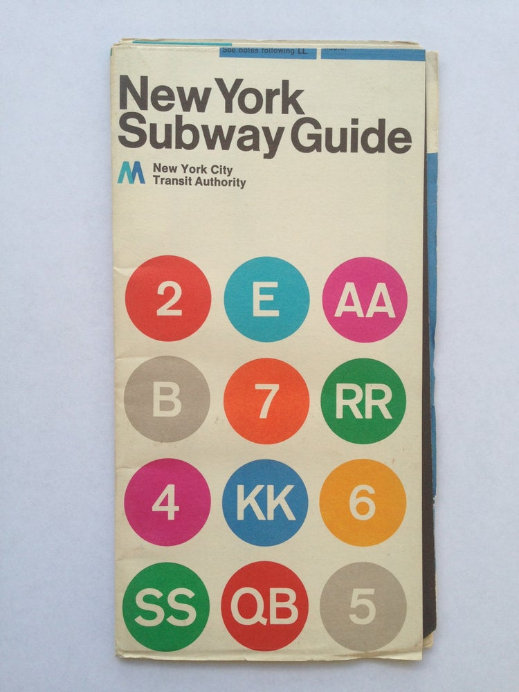 Massimo Vignelli 1972 Nyc Subway Map.Original 1972 New York Subway Map By Massimo Vignelli