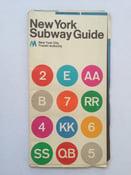Image of Original 1972 New York Subway Map by Massimo Vignelli