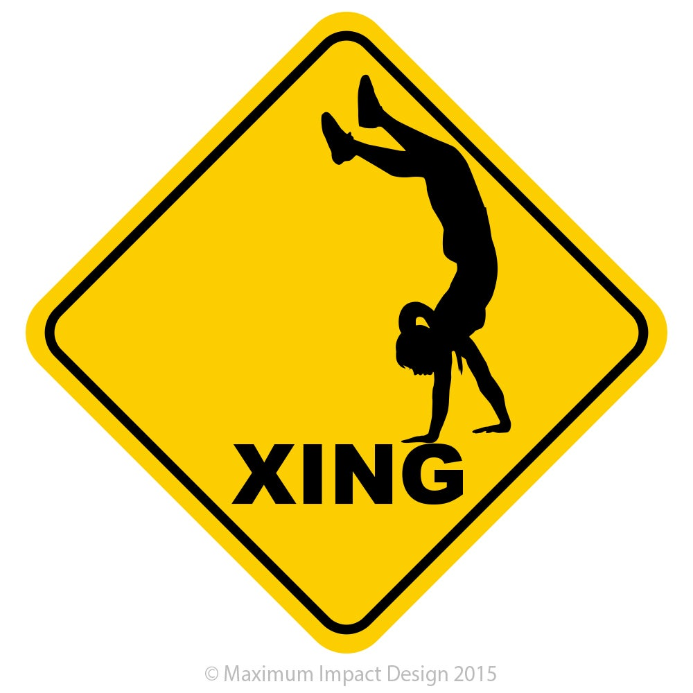 Image of BASM CF Handstand Crossing Sticker