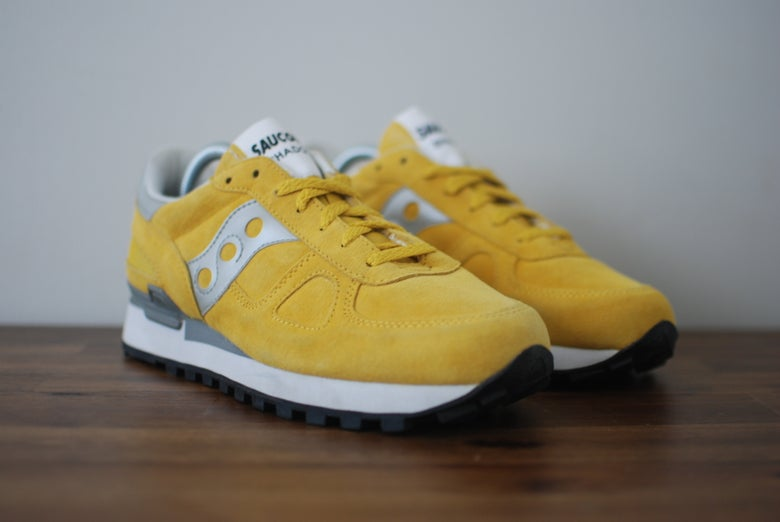 Image of Saucony Shadow Original Suede Banana