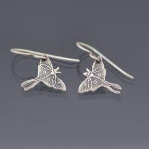 Image of Tiny Luna Moth Earrings