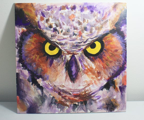 Image of 12x12 Abstract Owl