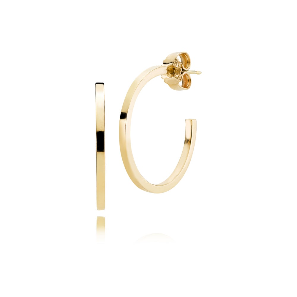 Image of Affinity Hoops, 18ct yellow gold