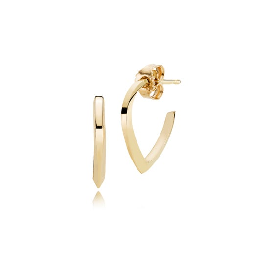 Image of Pointy Hoops, 18ct yellow gold