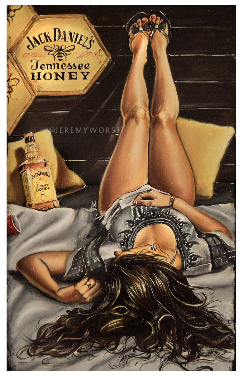 Image of JEREMY WORST Relax Artwork Signed Poster Print poster sizes fashion sexy woman