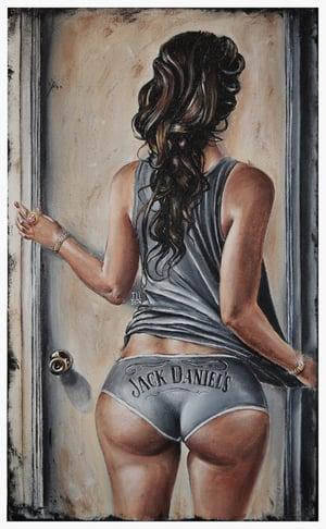 Image of JEREMY WORST Open Up jack Daniels Original Artwork Signed Print poster