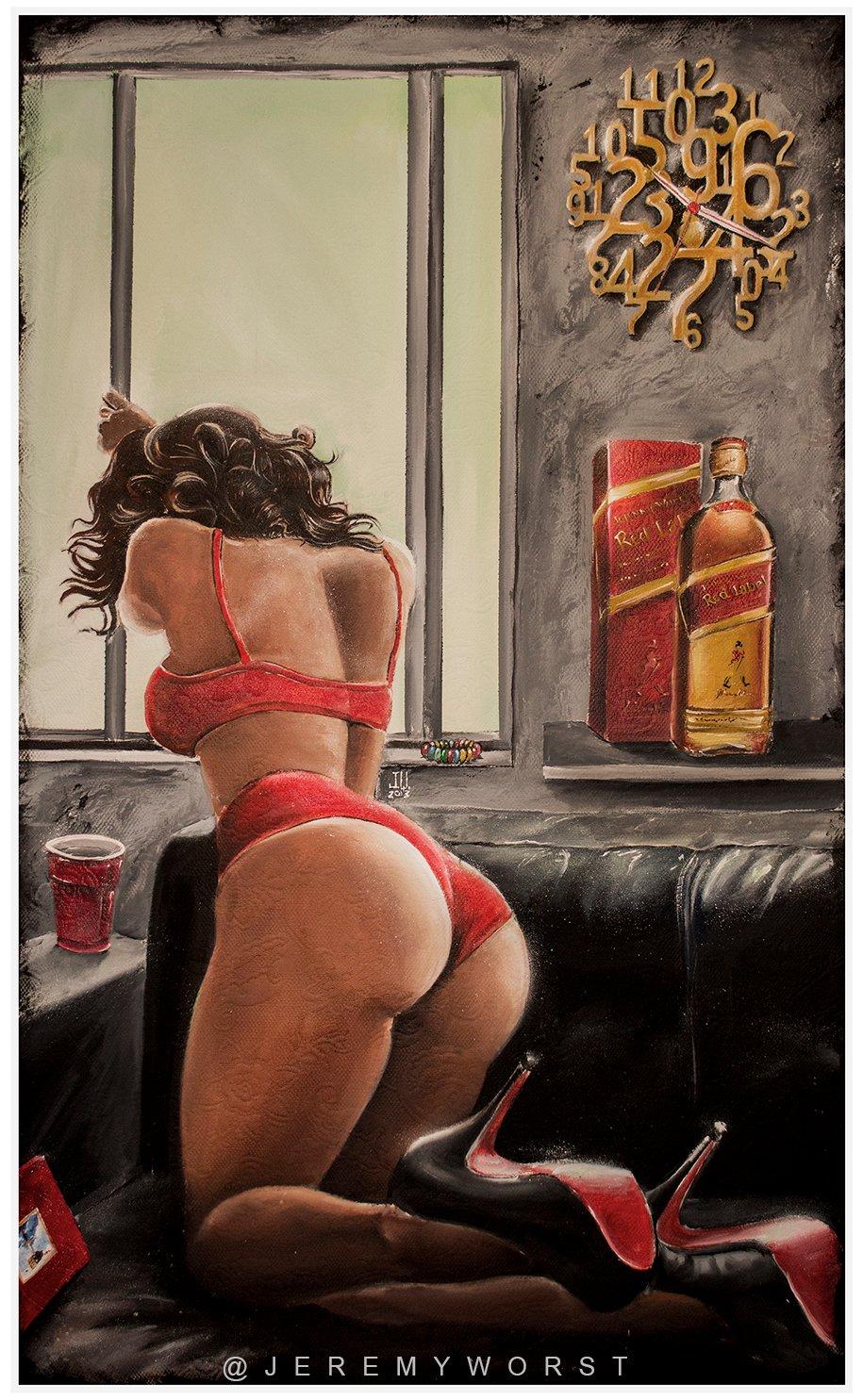 Image of JEREMY WORST On Sight Red Label Original Artwork Signed Print poster