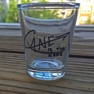 Image of Cane is the name signature shot glass